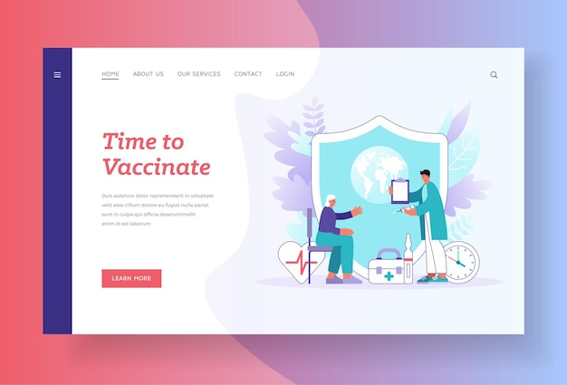 Time to vaccinate landing page template