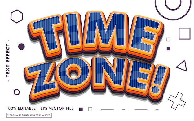 Time zone! text effect style