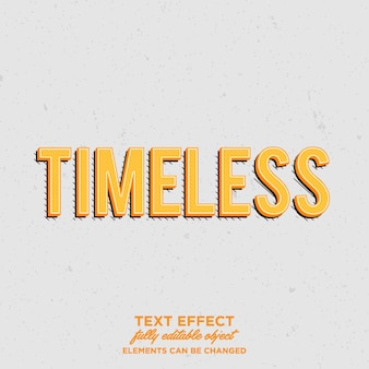 Timeless retro vintage text effects