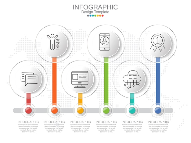 Timeliane infographic template with frame and text layout.