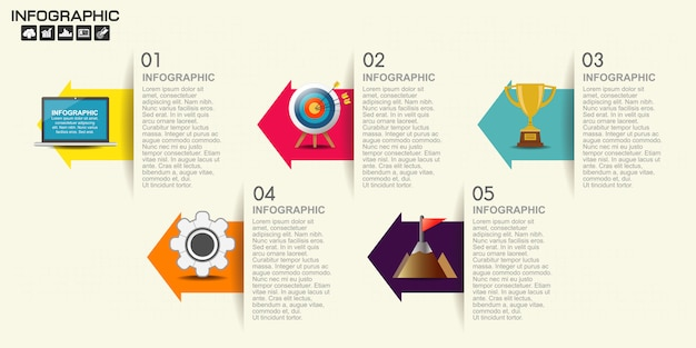 Timeline arrow infographics template options.