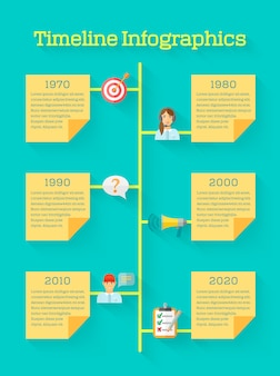Timeline business infographic with feedback icons