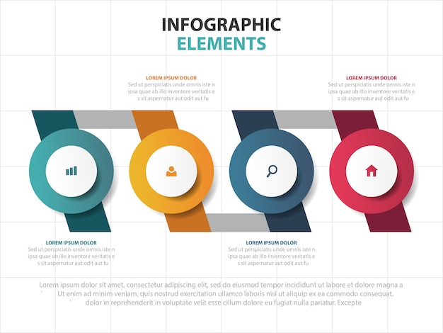 Timeline business infographics template elements