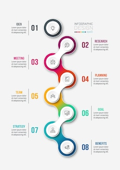 Timeline chart business infographic template.