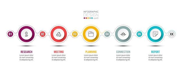 타임 라인 차트 비즈니스 infographic 템플릿