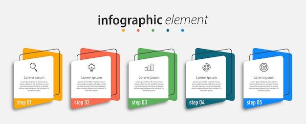 График времени пять шагов бизнес-инфографика