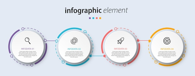 Хронология диаграммы инфографики