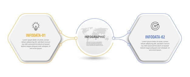 Timeline circle chart infographic business