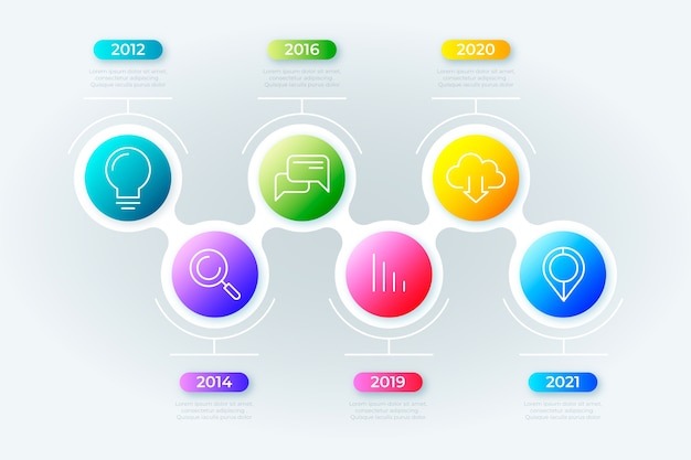 Timeline gradient business infographic