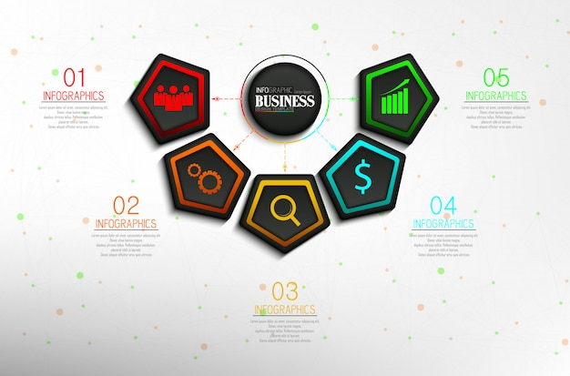 Timeline info graphic data visualization design template