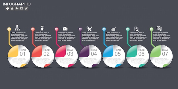 타임 라인 인포 그래픽 차트 디자인 템플릿입니다.