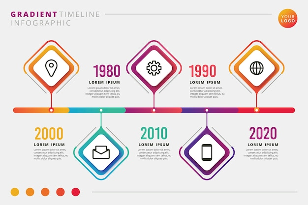 Timeline infographic collection