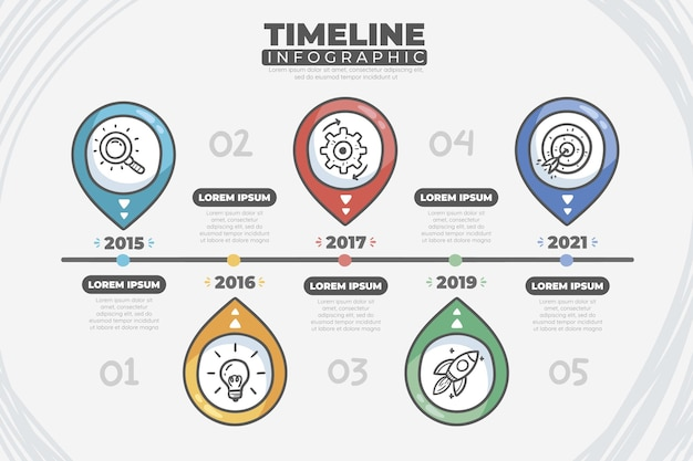 Timeline infographic colorful design
