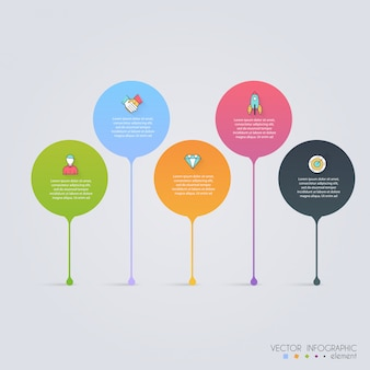 Хронология инфографики дизайн шаблоны. диаграммы, диаграммы и другие векторные элементы для представления данных и статистики