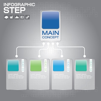 Timeline infographic design templates . with paper tags in modern style.