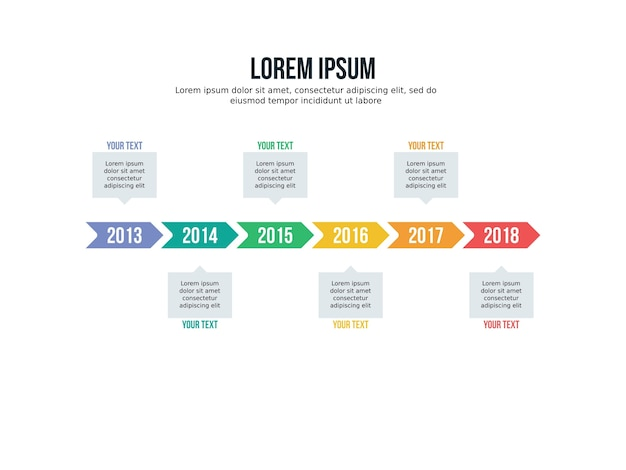 Timeline infographic element and timehop