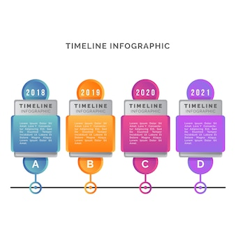 Timeline infographic evolution concept