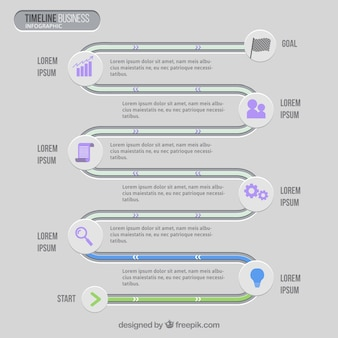 Timeline infographic for business