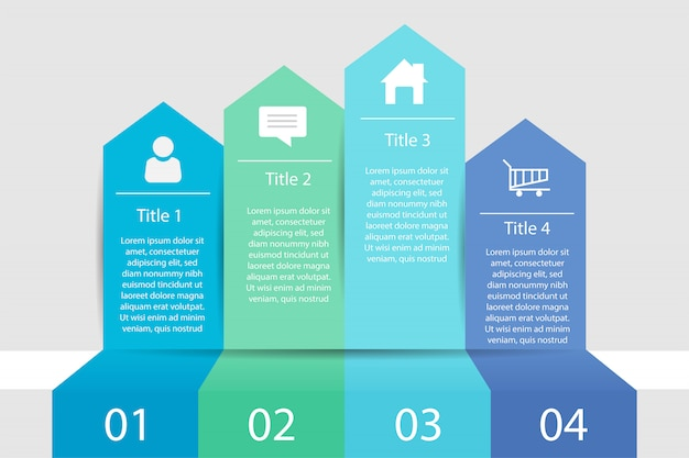 Timeline infographic four step business, infographic data