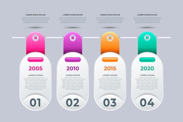 Timeline infographic gradient design