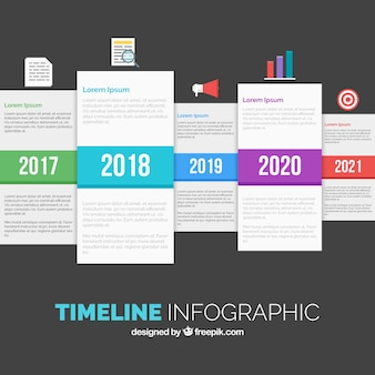 Timeline infographic in abstract style