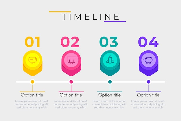 Timeline infographic pack