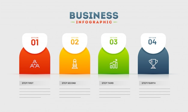 Timeline infographic presentation with business flaws