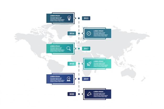 График инфографики шаблон дизайна для презентации