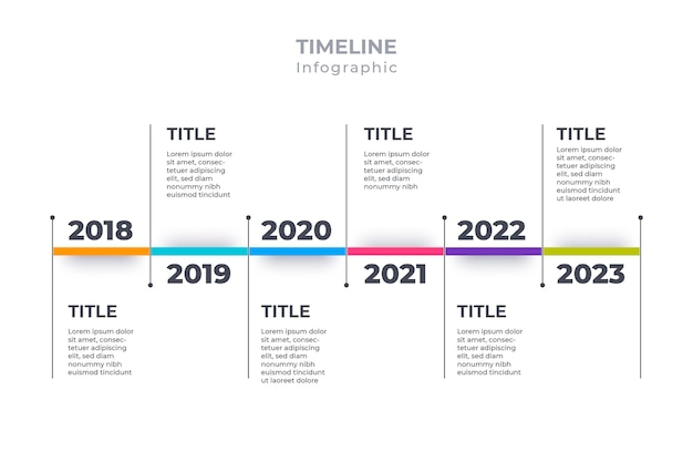 Timeline infographic template flat design