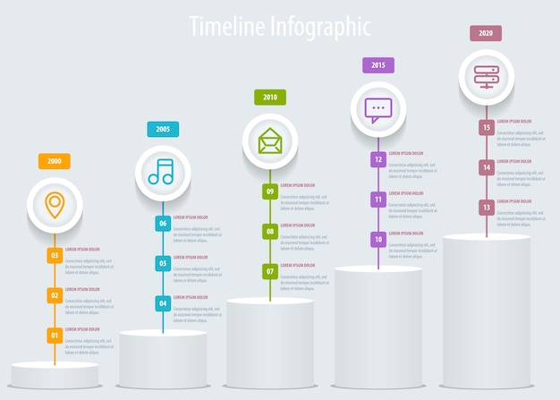 Timeline infographic. template