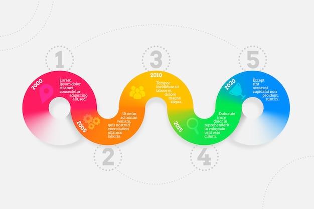 타임 라인 infographic 템플릿