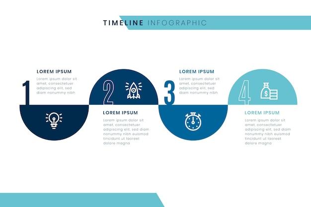 タイムラインのインフォグラフィックテンプレート