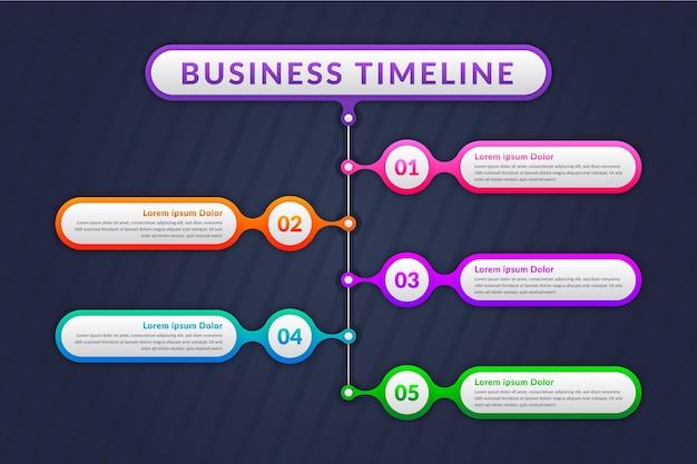 Хронология инфографики шаблон