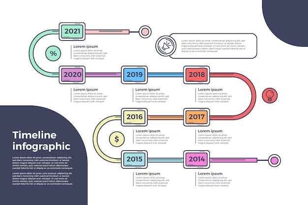 时间轴信息图表模板