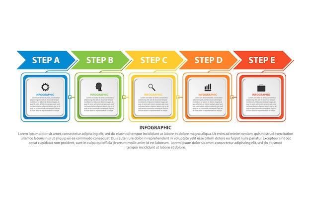 タイムラインのインフォグラフィックテンプレート Premiumベクター