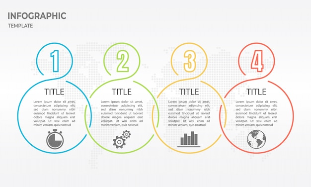 Timeline infographic thin line design