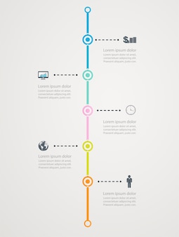 Timeline infographic with business icons, step  structure to success