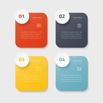 4つのオプション、ステップ、またはプロセスを持つタイムラインインフォグラフィック。カラフルなテンプレートデザイン