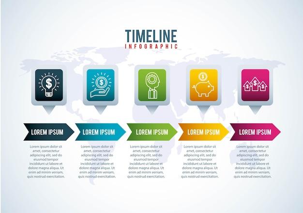 タイムラインinfographic世界銀行マネーの成長金融