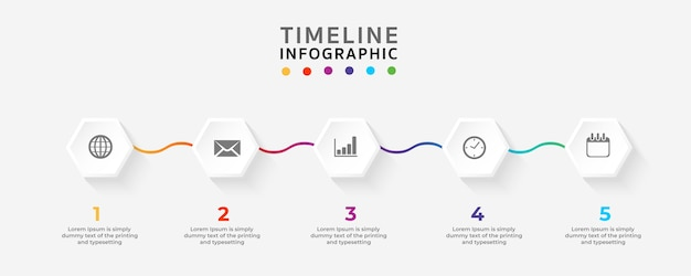 Timeline infographics design template.vector illustrator