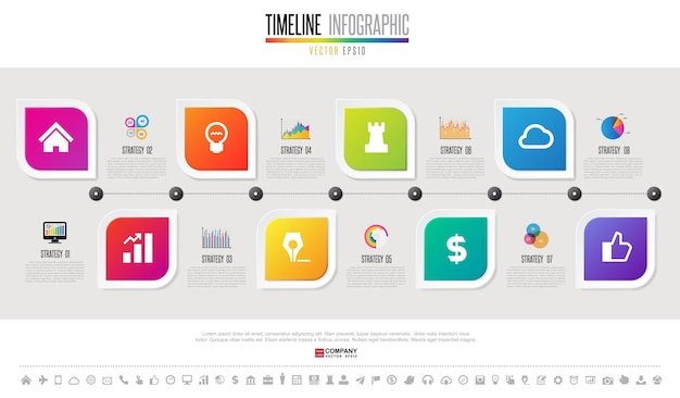 Шаблон шаблона временной шкалы timeline