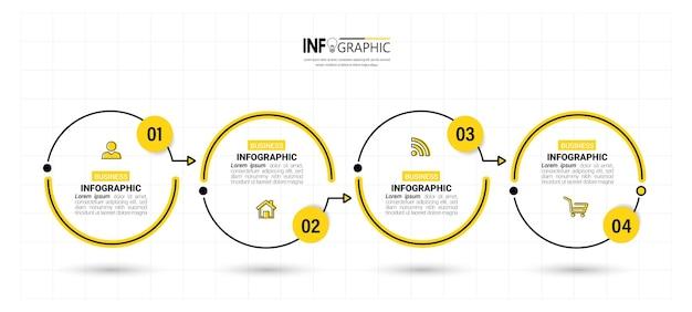 Шаблон оформления инфографики временной шкалы