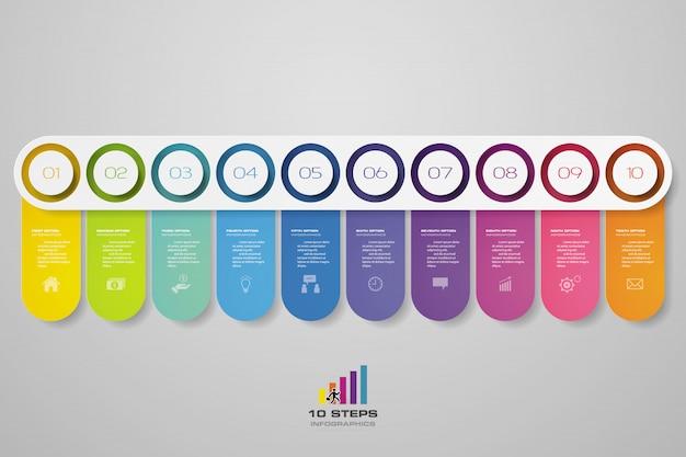 Timeline infographics element