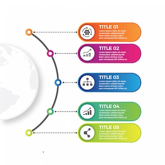 Timeline infographics and marketing icons