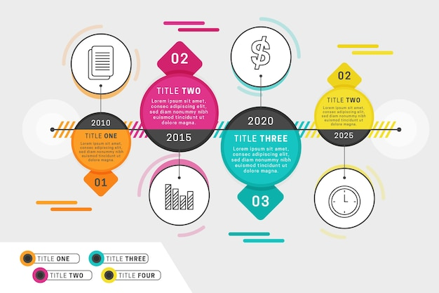 Timeline infographics template concept