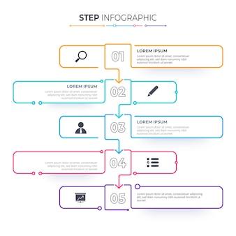 Timeline infographics template milestone or process diagram concept