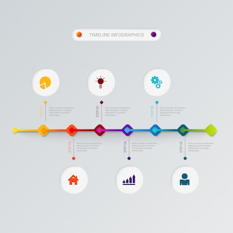Timeline infographics vector template.