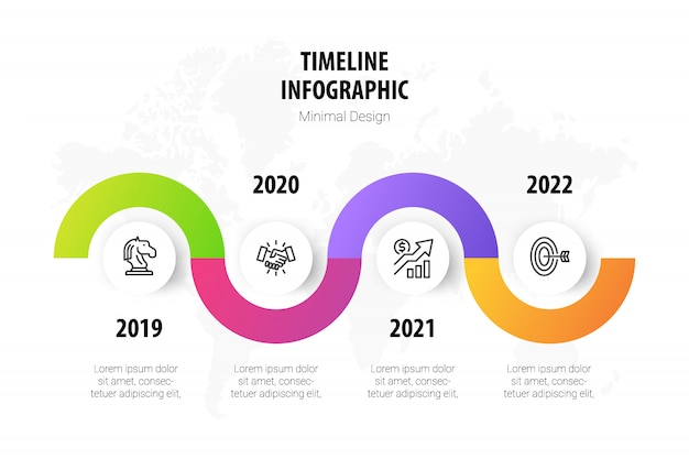Timeline minimal infographic template