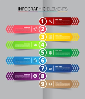 Timeline modern text box template infographics banner