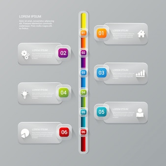 Timeline process infographics template
